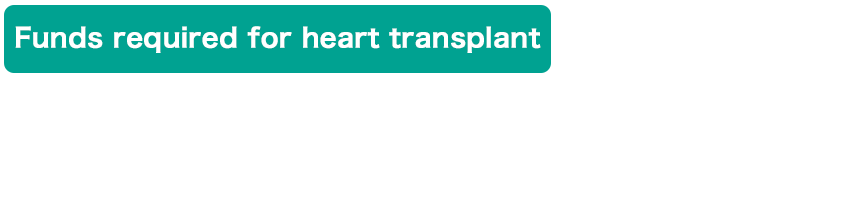 Funds required for heart transplant $3.1 Million